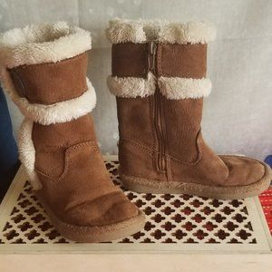 Michael Kors Vegan Suede Faux Sherpa Lined Boots